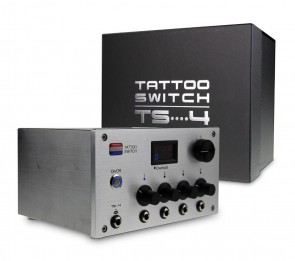 Tattoo Switch Power Supply With 4 Outputs - (TS4 Silver)