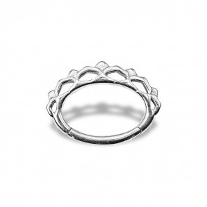 (45) Daith Clicker Queen Crown - Stainless Steel - Thickness 1.2 mm / Ø 6 mm