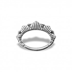(46) Daith Clicker Vulture Crown - Stainless Steel - Thickness 1.2 mm / Ø 6 mm