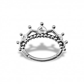 (47) Daith Clicker King Crown - Stainless Steel - Thickness 1.2 mm / Ø 6 mm