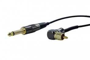 Crystal Coax Cables - RCA Angled - Black