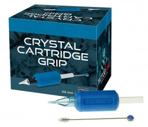 Crystal Disposable Cartridge Grips - 25 mm - Box of 15