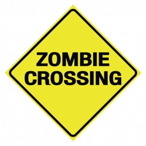 Zombie Crossing Sign - 30 cm