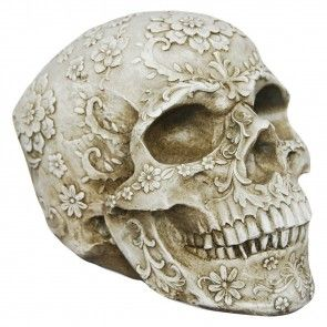Floral Decay Skull - 20 cm