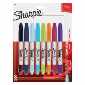 Sharpie - Fine & Ultra Fine Dual Point Set - Pack of 8