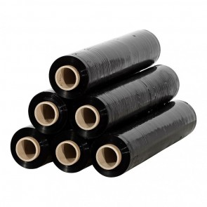 Stretch Shrink Wrap - Black - 300 m x 50 cm