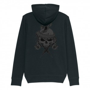 Tattooland Hooded Vest with Zipper - Skull Design