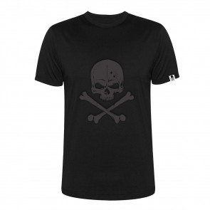 Tattooland T-shirt - Black on Black Skull