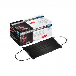 Unigloves Black Line - Black Dragon Mouth Masks - Box of 50